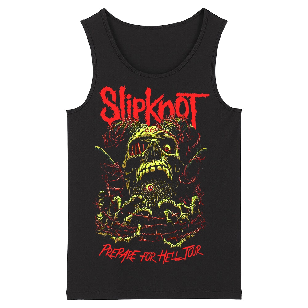 Bloodhoof Slipknot Heavy Metal alternativo Deathcore hombres tanque tallas asiáticas de tops