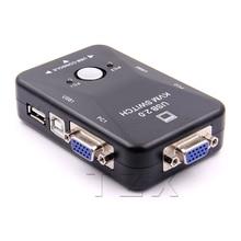 USB KVM переключатель 2 порта VGA переключатель SVGA коробка USB 2,0 KVM мышь переключатель клавиатура 1920*1440 Vga разветвитель коробка Обмен переключатель