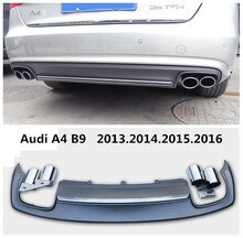 Car Rear Lip Spoiler For Audi A4 B9 2013.2014.2015.2016 High Quality PP ABS Bumper Diffuser Auto Accessories