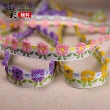 18 yardas * 1,5 cm cintas de encaje Jacquard DIY ropa artesanal suministros de costura hechos a mano ropa zapatos para falda accesorios de cinta