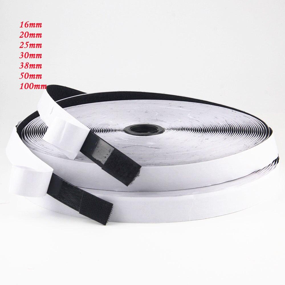 16/20/25/30/38/50/100mm 10M velcro Adhesivo cinta de gancho y bucle fuerte cierre autoadhesivo...