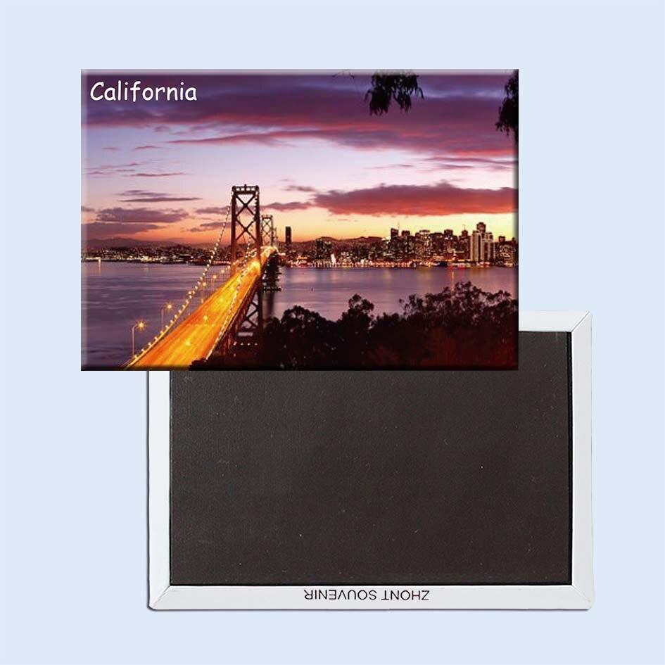 Imanes de nevera de viaje de California 21195, recuerdos de turista mundial