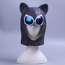 Athemis Catwoman 코스프레 마스크 배트맨 섹시한 블랙 라텍스 풀 헤드 헬멧 아이 안경 소품 파티 할로윈 멋진 드레스 공
