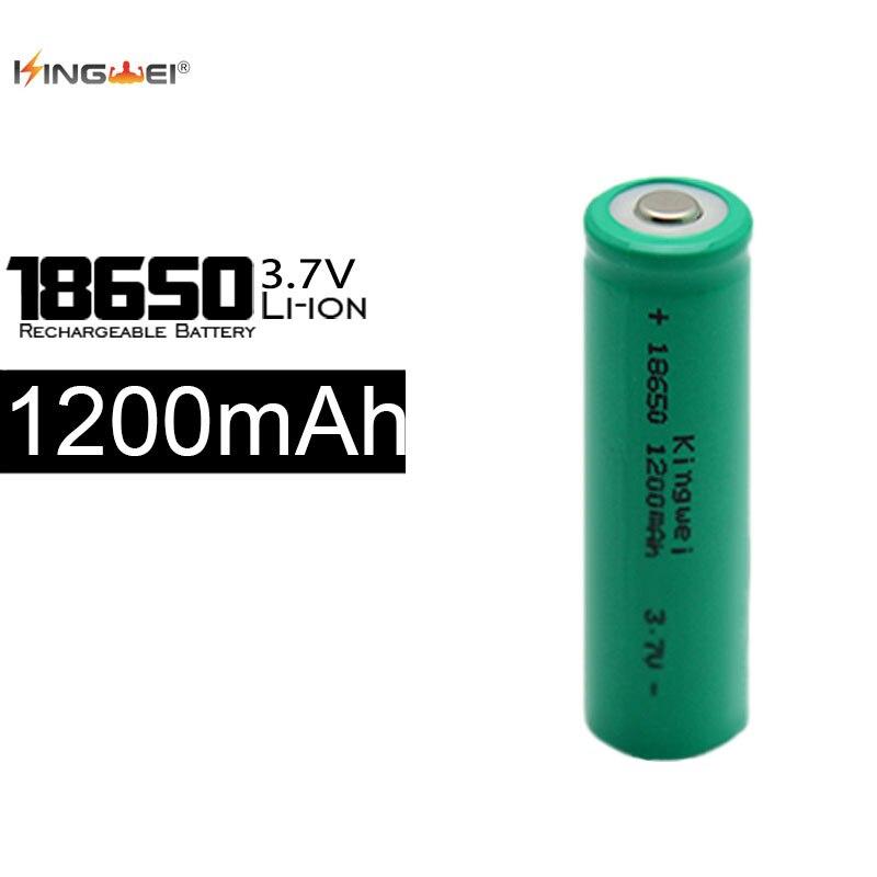 Nuevo KingWei Green 18650 batería recargable 3,7 v Li ion 1200mah baterías de ahorro de energía para linterna
