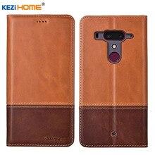 "Funda para HTC U12 Plus KEZiHOME doble colores funda billetera de cuero genuino para HTC U12 Plus U12 + 6,0 ""casos de teléfono"
