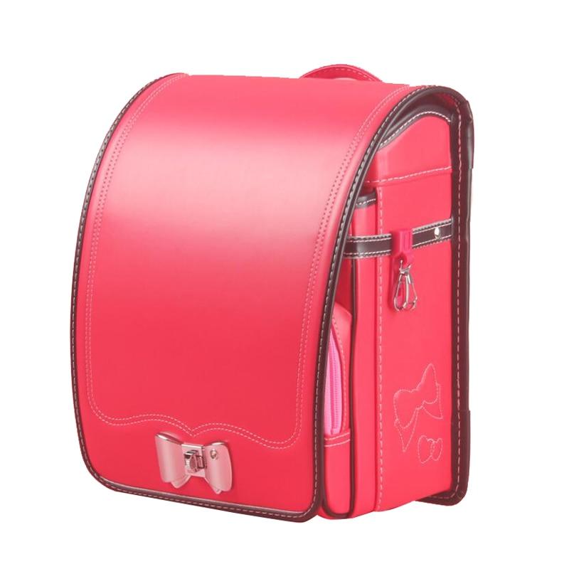 Школьный японский рюкзак для детей, водонепроницаемый ортопедический ранец из искусственной кожи для учебников, вместительные школьные по...