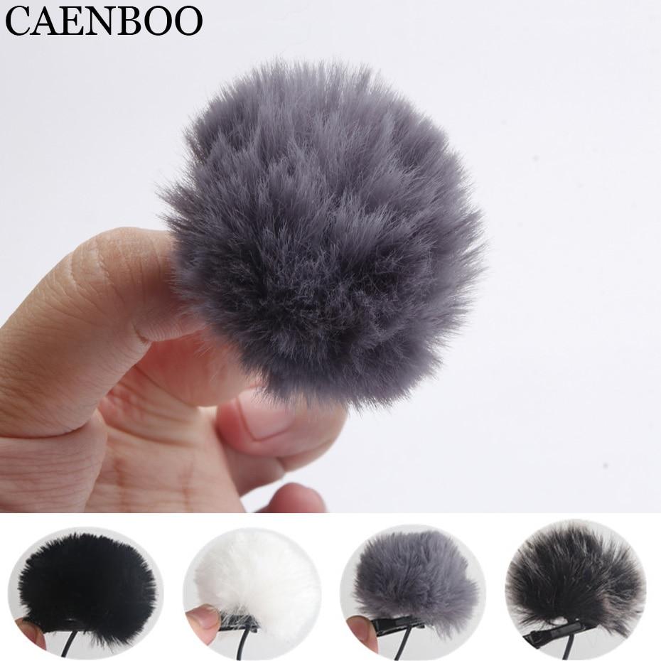 CAENBOO Universal Lavalier Microphone Furry Windscreen Fur Windshield Wind Muff Soft For SONY RODE BOYA Lapel Lavalier Mic 5mm