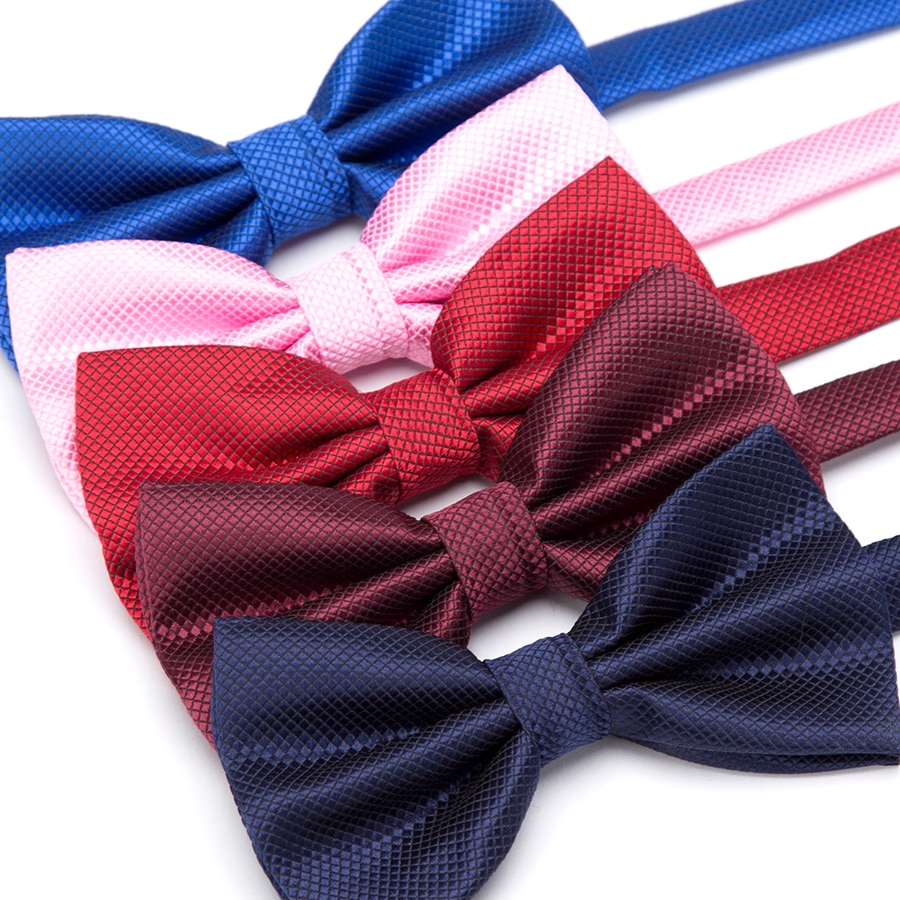 XGVOKH Men Ties Fashion Butterfly Party Wedding Bow Tie for Boys Girls Candy Solid Color Bowknot Who