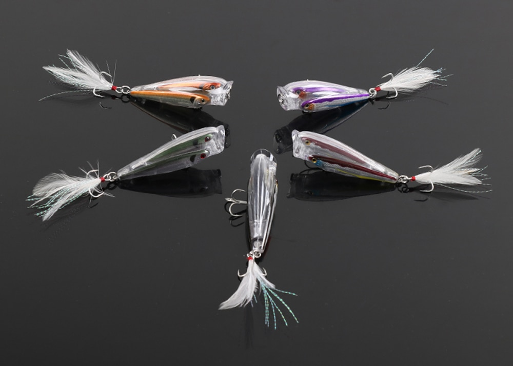 Fishing multiple fish lure Popper Lure Floating Minnow Baitball Crankbait 9cm/10g enlarge