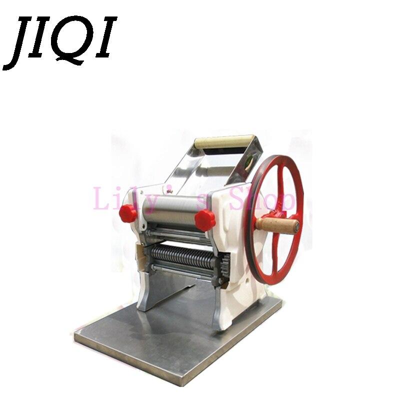 JIQI Manuelle Edelstahl Nudel Pressen Maschine Hand Kurbel Pasta Maker Knödel Wonton Teig Roll Aufhänger Spaghetti Cutter