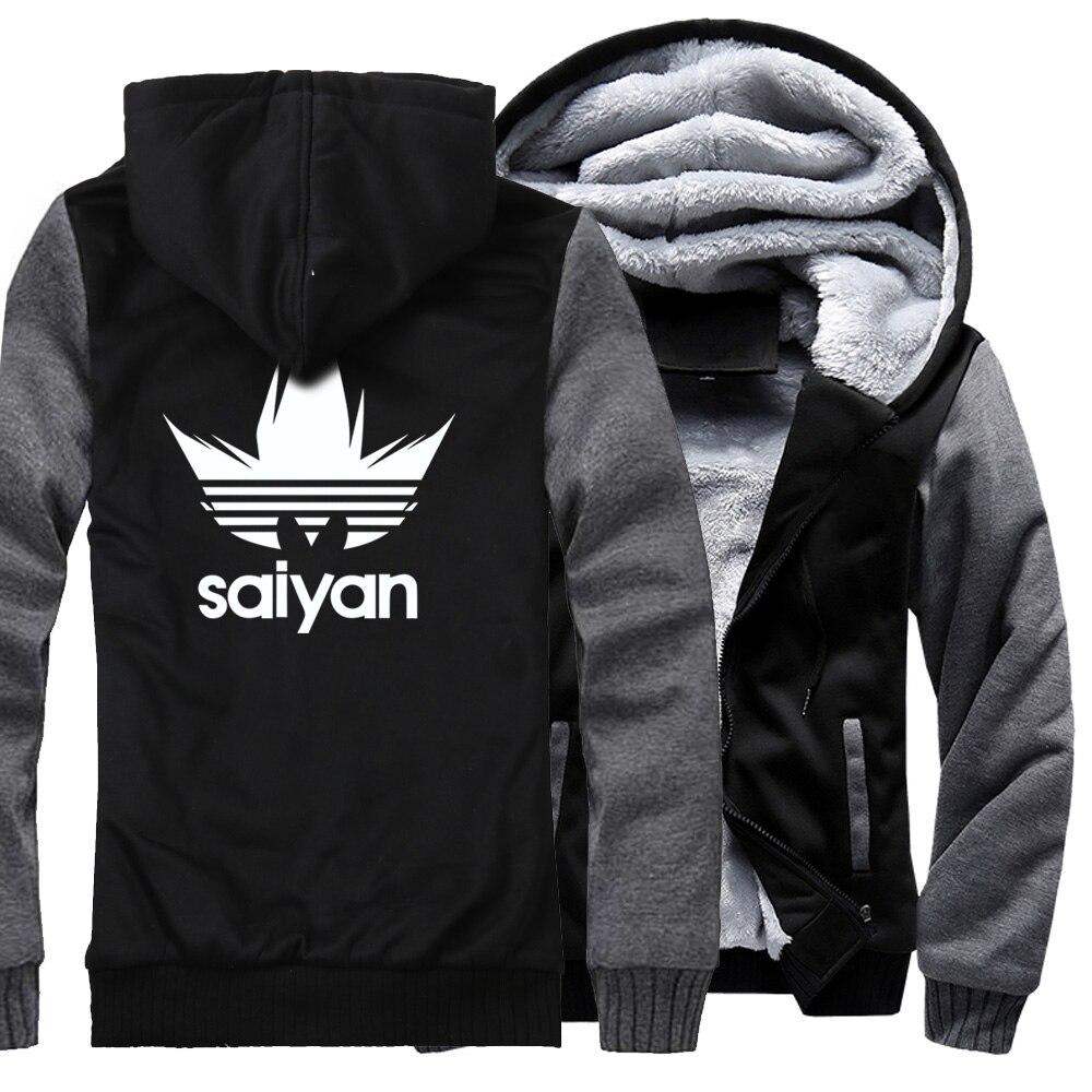 Dragonball z casual moletom masculino 2019 outono inverno marca streetwear harajuku jaqueta masculina hoodies dragon ball z casacos grossos
