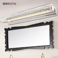 Elegant LED square crystal lens ark lamp lens headlight k9 bubbles bathroom make-up desk lamp Free shipping