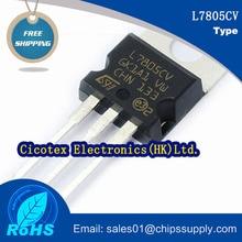 20 pièces/lot puces de circuit intégré Transistor L7805CV TO-220 IC REG LDO 5V 1.5A TO220AB L 7805 CV