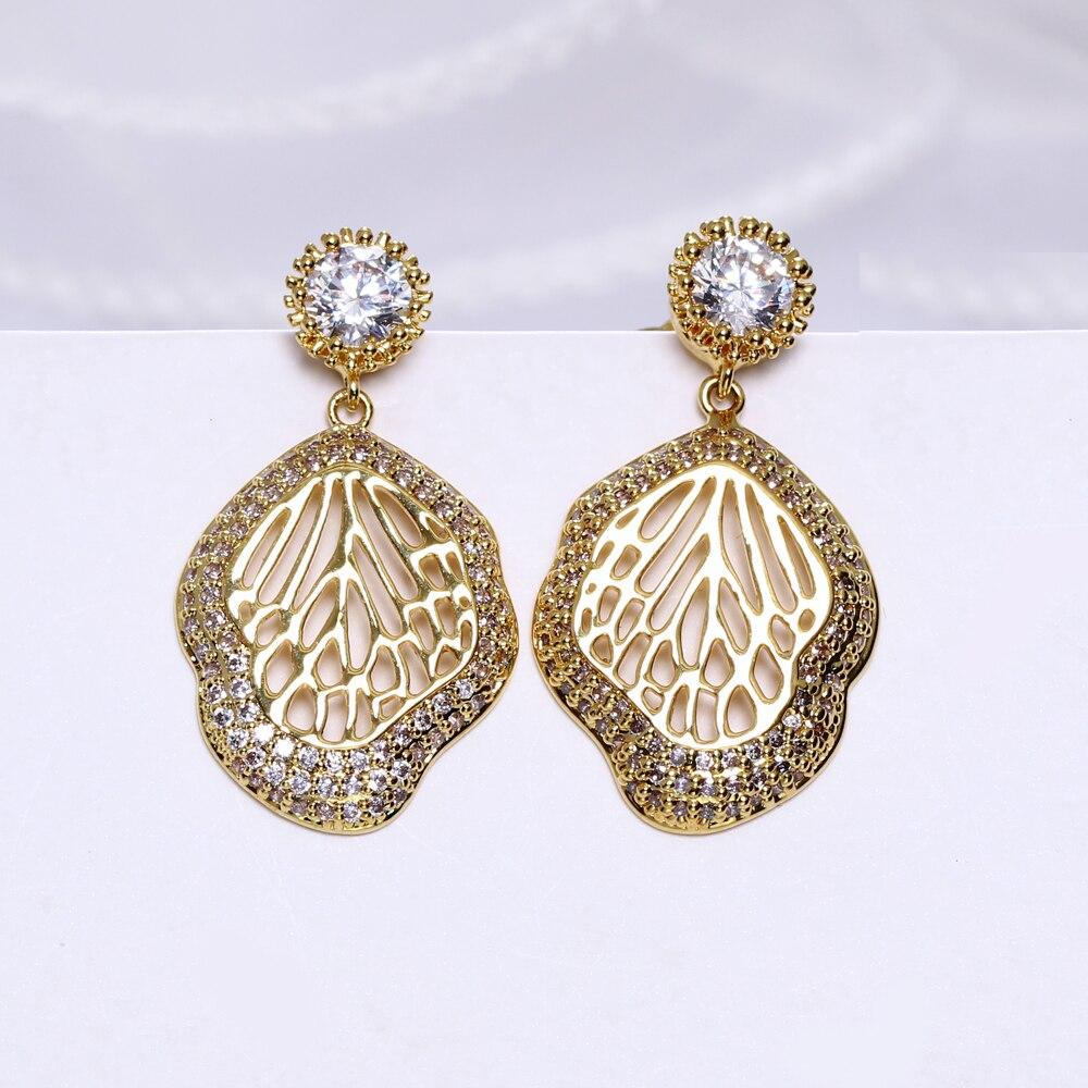 Pendientes colgantes De hojas, joyería, Detalles De boda, Color negro/Blanco/dorado, accesorios De...