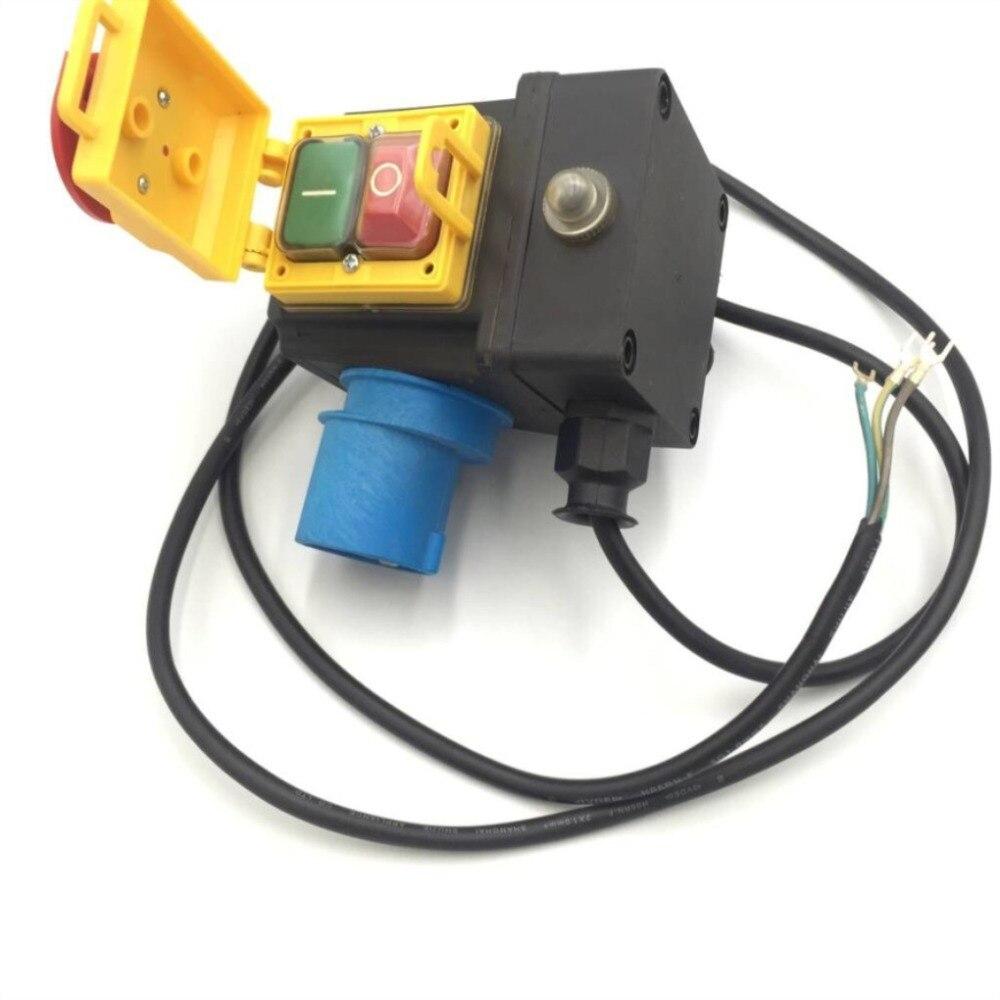 مفتاح كهرومغناطيسي HCK10T 250V 16A IP54 ، زر ضغط ، تشغيل/إيقاف تشغيل ، لآلة قطع الرخام والحجر