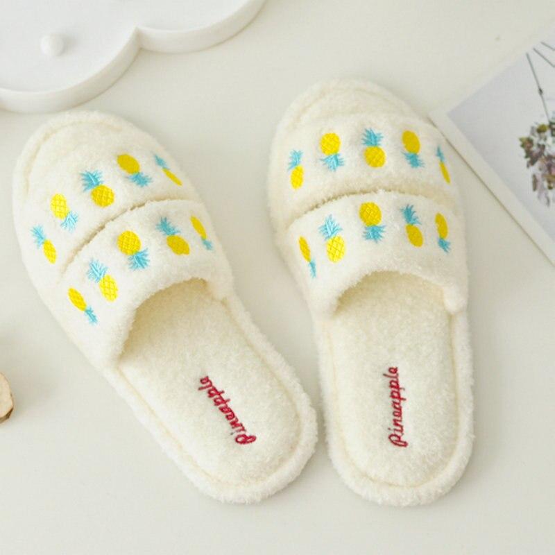 Outono inverno casa sapato dos desenhos animados chinelos de algodão sapatos domésticos indoor boca de peixe chinelos sapatos femininos interiores