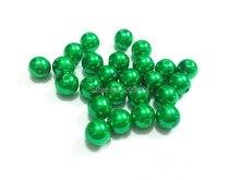 (Choisissez la taille en premier) 6mm/8mm/10mm/12mm/14mm/16mm/18mm/20mm/23mm/25mm/perles de perles dimitation acrylique vert noël