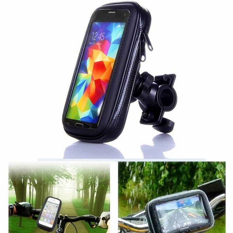 Bolsa para teléfono móvil bicicleta motocicleta soporte para iPhone 7 5 SE 6S 6 Plus GPS bolsa impermeable con soporte