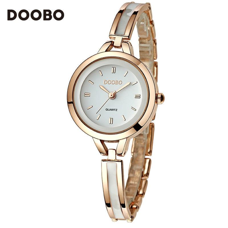 DOOBO наручные часы Роскошные золотые часы женские часы модный браслет женские часы водонепроницаемые часы relogio feminino montre femme