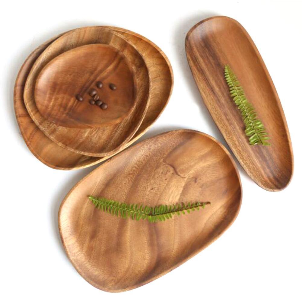 Holz Palette Kuchen Display Stand Unregelmäßigen Lagerung Tablett Snack Obst Veranstalter Tisch Zubehör Schnelle Lebensmittel Platte Dekoration