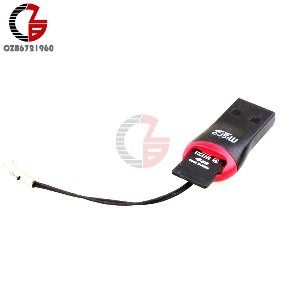 Mini Micro SD SDHC, 10 Uds., USB 2,0, tarjeta de memoria Flash, lector adaptador TF de alta velocidad para portátil 0,35