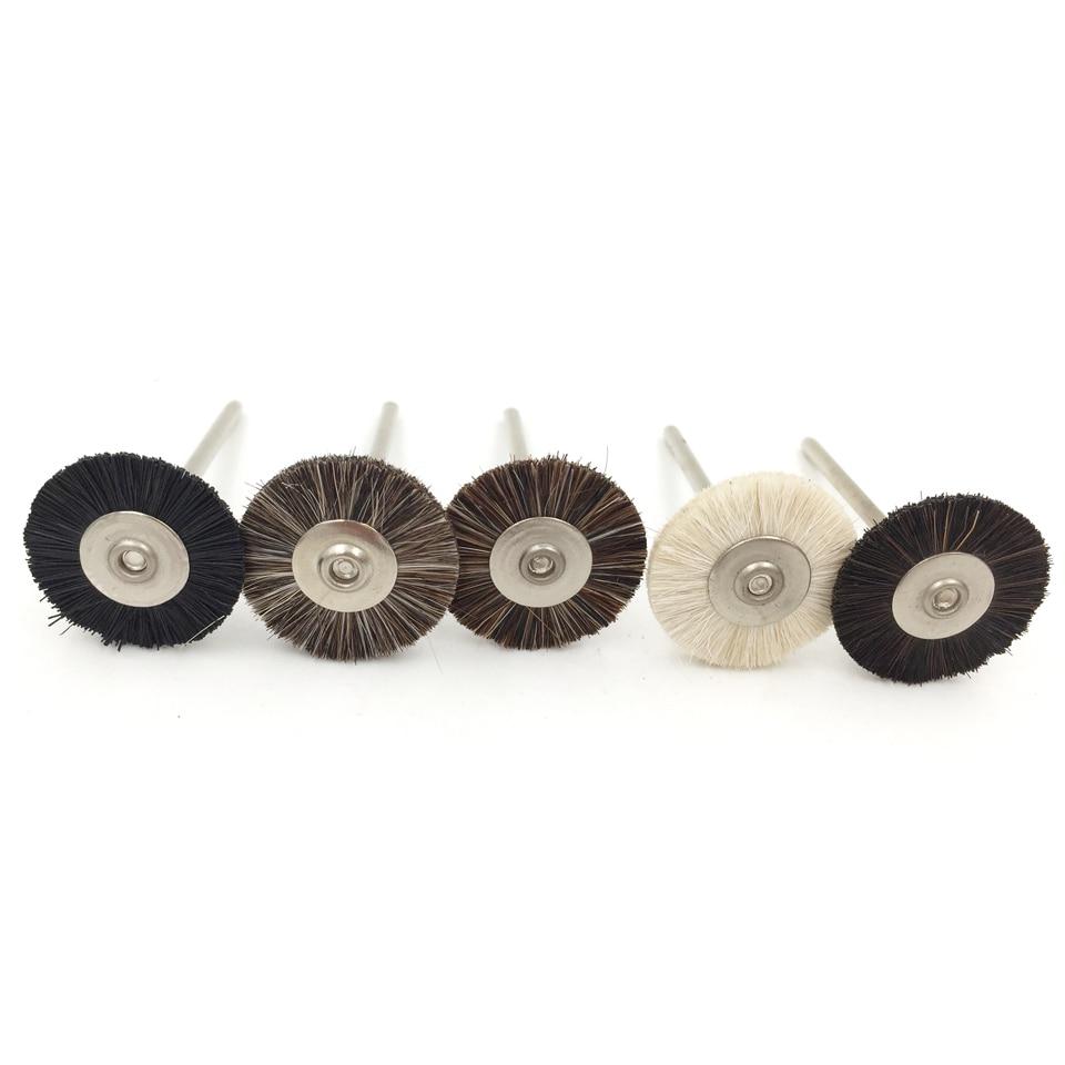 144 unids/lote Dremel accesorios herramientas de rueda de pulido Cepillo giratorio, herramientas 19mm de cepillos