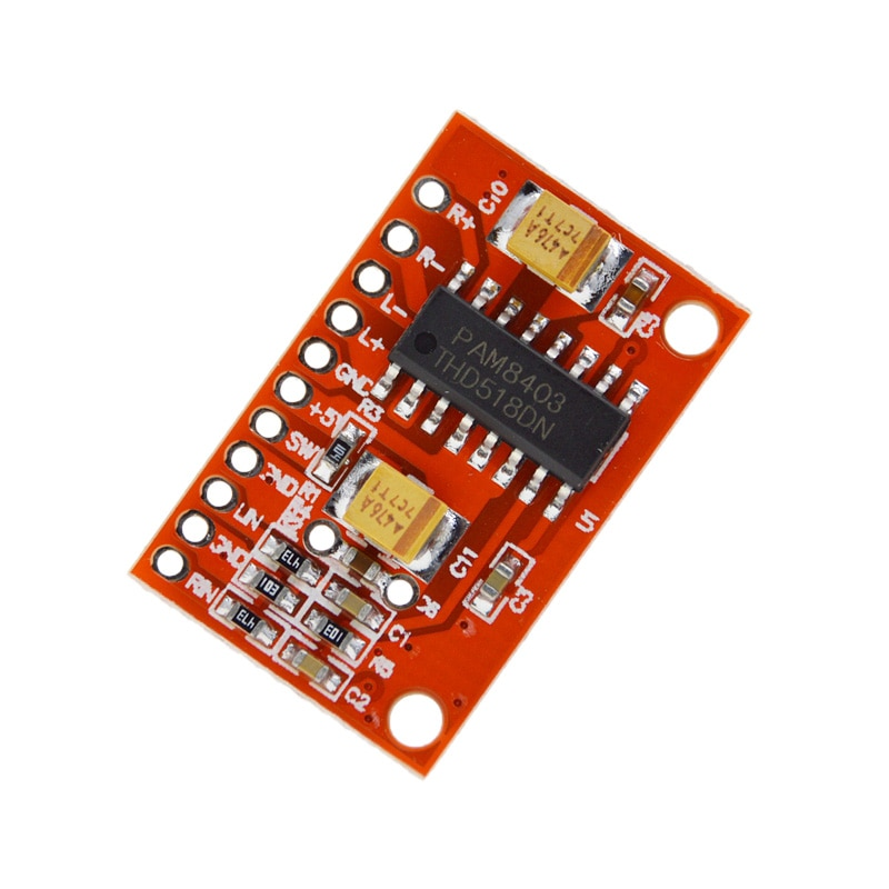 3W*2 Mini Digital Power Audio Amplifier Board DIY Stereo USB DC 5V Power Supply PAM8403 for Arduino
