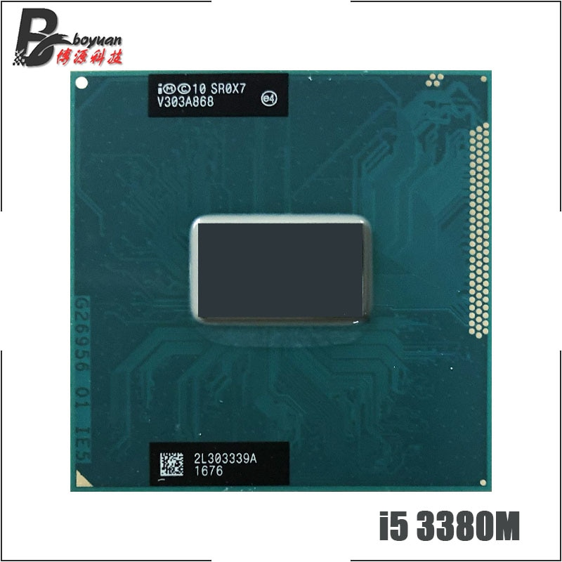Intel core i5-3380M i5 3380 m sr0x7 2.9 ghz processador cpu quad-thread de núcleo duplo 3 m 35 w soquete g2/rpga988b
