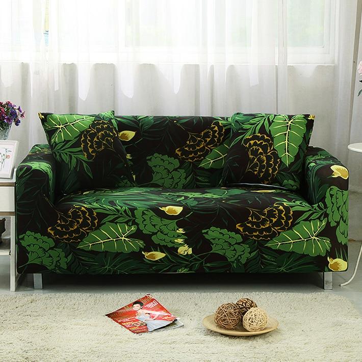 Schwarz und grün Sofa abdeckung alle Wrap Couch abdeckungen Gedruckt stretch Möbel stretch hussen sofa Handtuch schnitts mode hause