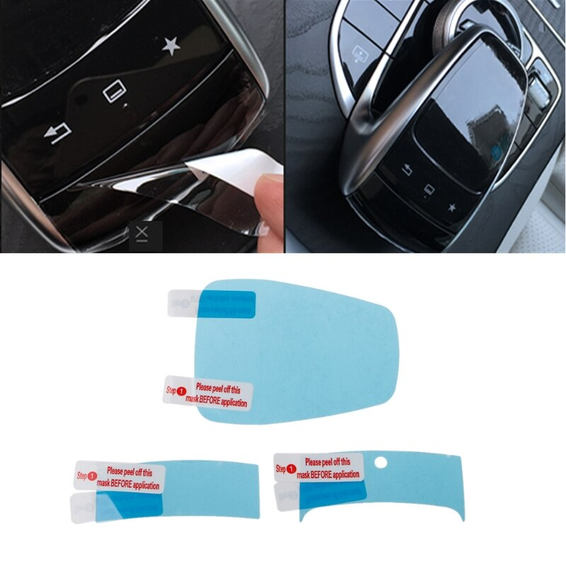 3 uds para Mercedes Benz centro de la consola ratón película protectora al tacto ajuste para Mercedes Benz C/E/S/V/GLC/sobre las clase de envío de la gota