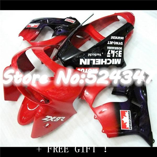 For red blue KAWASAKI NINJA ZX9R 98-99 ZX-9R 9 R 98 99  ZX 9R 1998 1999 Red blue black Free Bodywork Fairing for Ninja-Nn