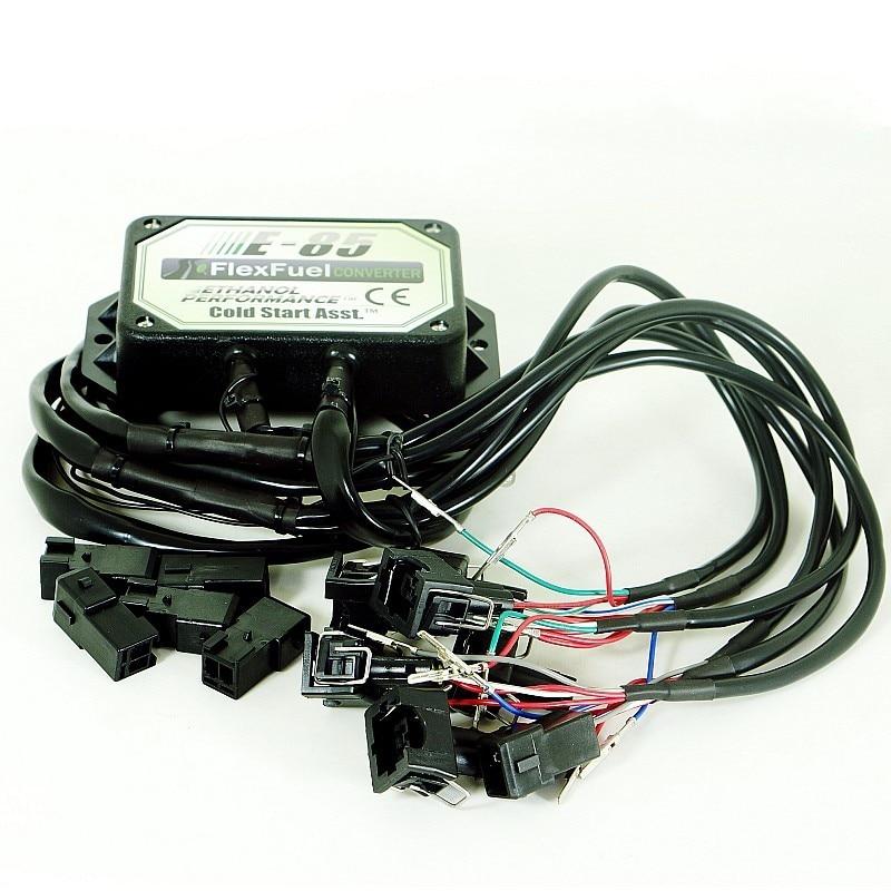 8 Cylinder E85 conversion kit Flex Fuel ethanol alternative fuel with Cold Start Asst. connectors available for EV6,Delphi,Honda enlarge