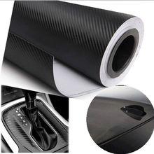 CHIZIYO 30cm x 127cm 3D karbon Fiber vinil araç örtüsü sac rulo Film araba çıkartmaları ve çıkartmaları motosiklet siyah beyaz