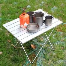 Stół składany z aluminium do jadalni i gotowania, stół kempingowy mesa plegable
