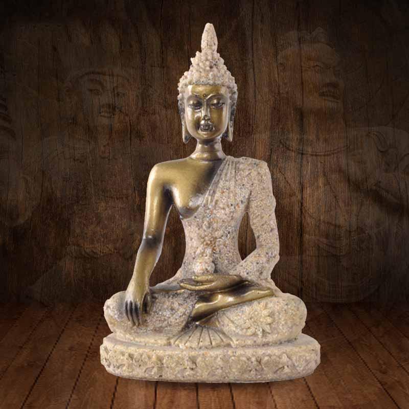 Adornos de resina de imagen de Buda religioso estilo de Asia del Sudeste color de arenisca natural artesanías regalos creativos