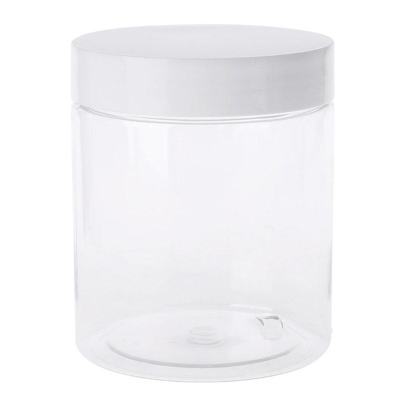 Recipiente vacío de 250ml para plastilina, arcilla ligera, frasco de maquillaje, tarro cosmético, botella de crema, caja de uñas