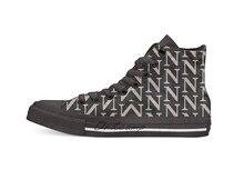 Lettre N Look métallique rayures argent or cuivre décontracté haut chaussures en toile baskets pour la livraison directe