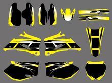New Style TEAM GRAFICO e SFONDI AUTOADESIVI DELLE DECALCOMANIE Kit per Yamha YZ250F YZ450F 2006 2007 2008 2009 YZF 250 450 YZ 250F 450F