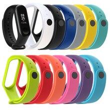 Sur mon mi Band 3 Bracelet montre Durable Bracelet en Silicone pour Xiao mi Band 3 Xio mi band 4 marque 4 accessoires de Bracelet de Sport