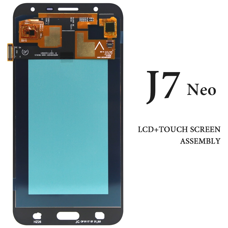 استبدال قطع غيار الهاتف لسامسونج J7 Neo LCD شاشة تعمل باللمس AMOLED J701 J701F J701M J701MT أسود أبيض ذهبي فضي