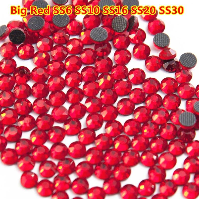 1440 Uds rojo oscuro DMC HotFix espalda plana strass hotfix de ss20 ropa vestido de novia Accesorios