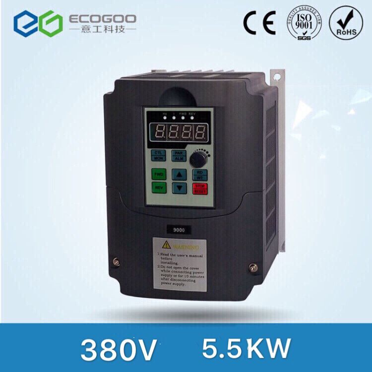 5.5KW 7HP Vector Control Vfd inverter 5500W 13A Variable Frequency Drive for Spindle/Motor,Input 380V 3phase Output 380V