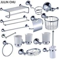chrome bathroom hardware sets brass toilet brush holder wc roll paper towel shelf shower soap dish wall hooks hairdryer holders
