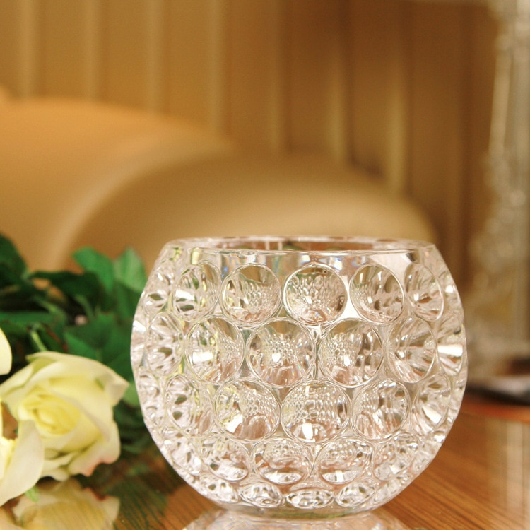 Cheap porcelain workers nationwide promotional crystal quality glass ball ornaments craft pottery candlesticks glass vase hydrop