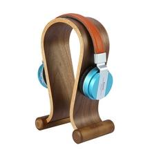 Di legno In Legno di Noce Cuffia Gaming Headset Display Del Supporto Del Basamento Del Gancio per la cuffia auricolare tablet tablet