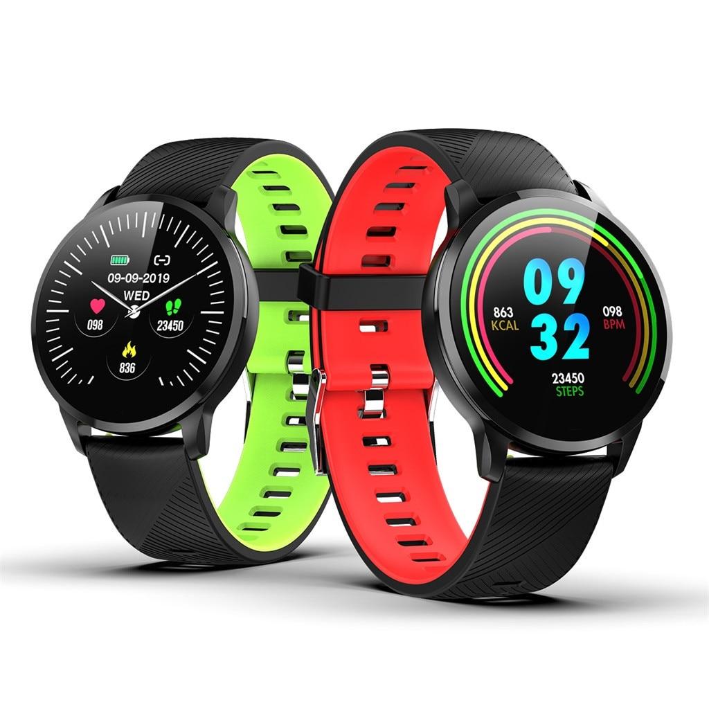 2019 nuevo reloj deportivo inteligente Monitor de ritmo cardíaco presión arterial Monitor de sueño podómetro pulsera deportiva Correa Multicolor