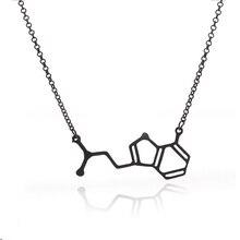 2016 New Design de Moda Especial Fórmula Química Colar Pingente Para Homens e Mulheres Ouro Negro
