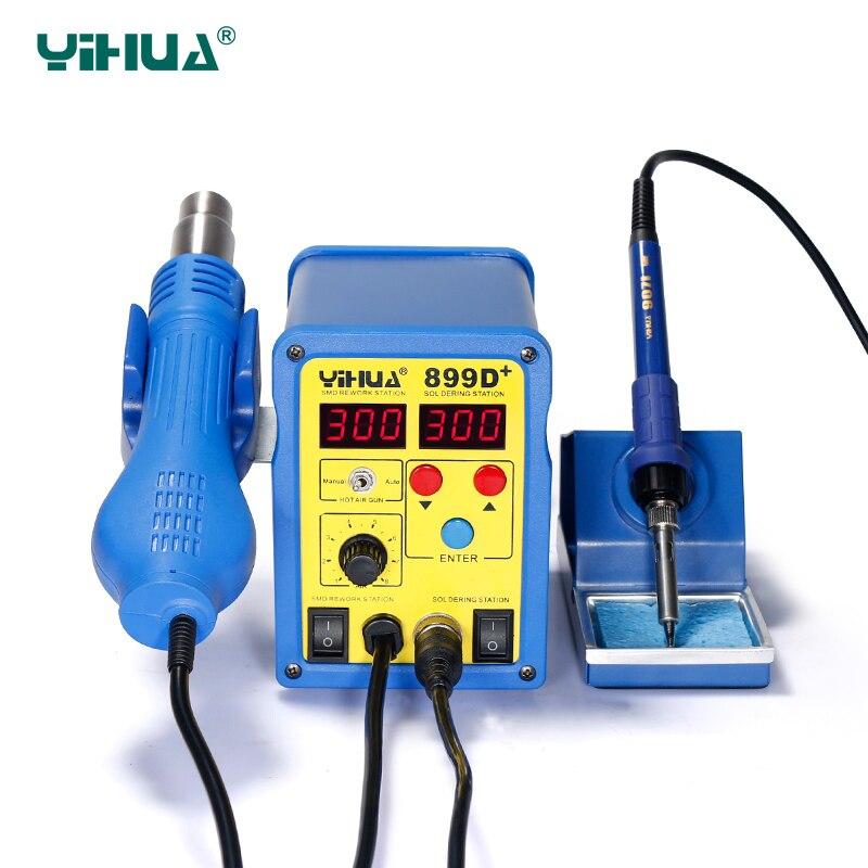 YIHUA-محطة لحام مسدس الهواء الساخن 899D 720W ESD ، محطة إزالة اللحام الرقمية ، 110 فولت/220 فولت