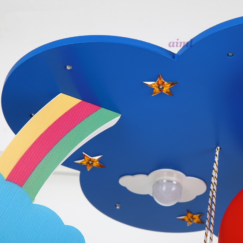 2019 LED 21W-30W Warm creative rainbow cloud children room lights children boys and girls bedroom absorb dome light 110-240v  - buy with discount