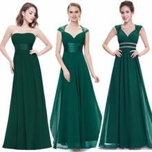 Ever-Pretty Women Elegant Sexy Evening Dresses V-Neck Chiffon Backless Vintage Sleeveless Dark Green Party Evening Dress